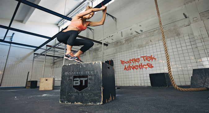 Training for Crossfit in Battle Tek Athletics Clothing