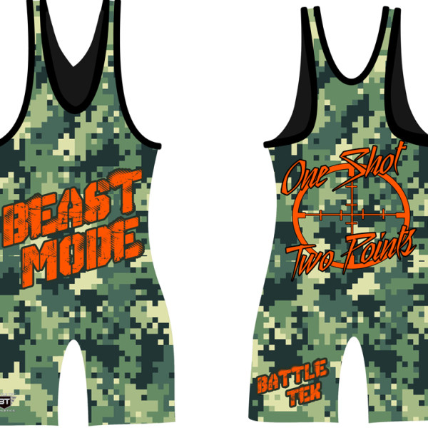 Battle Tek Athletics Beast Mode Wrestling Singlet