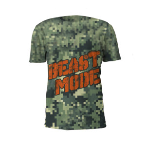 The Beast Mode Performance Tee Shirt by Battle Tek Athletics Is Perfect For Athletic Training, MMA And Grappling Sports