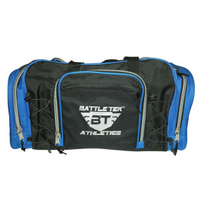 The Large Blue Accented Battle Tek Athletics Duffel Bag Offers Style And Organization For Personal and Athletic Gear Transport