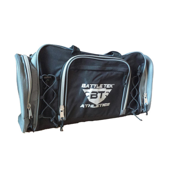 The Large Grey Accented Battle Tek Athletics Duffel Bag Offers Style And Organization For Personal and Athletic Gear Transport