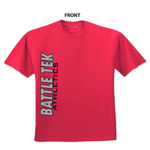 Battle Athletics Simple Red Side Print performance tee.