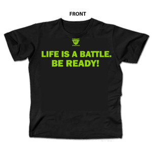 Life Is A Battle - Black and Green Battle Tek Athletics Performance T-shirt