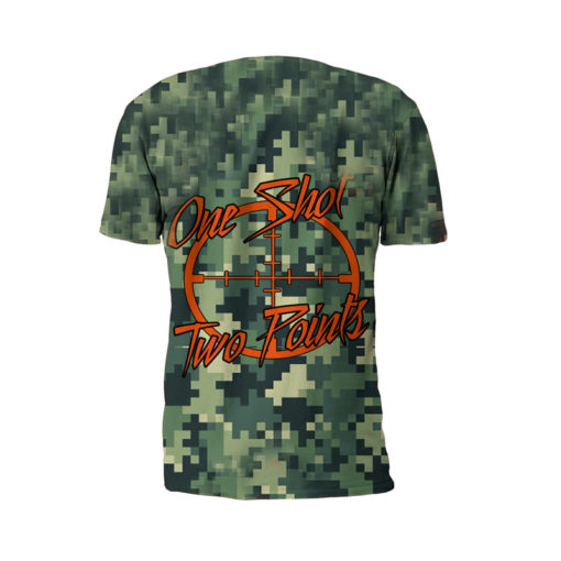 Back View Of The Beast Mode Performance Tee Shirt by Battle Tek Athletics—The Perfect Performance Tee Shirt For Athletic Training, MMA And Grappling Sports