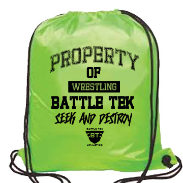 The Neon Green Property of Battle Tek Wrestling Drawstring Bag Is A Perfect Choice for A Quick Carry Bag