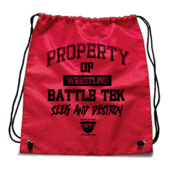 The Red Property of Battle Tek Wrestling Drawstring Bag Is A Perfect Choice for A Quick Carry Bag