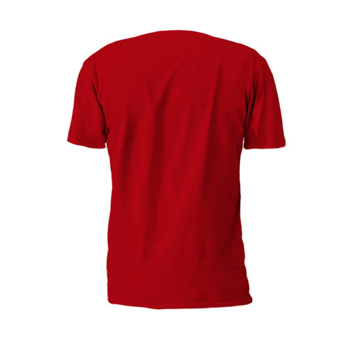 Red Property Of Battle Tek Lightweight 100% Micro Mesh Polyester Performance Tee Back View | Solid color on the back--Reverse Side Makes The Statement: Seek And Destroy