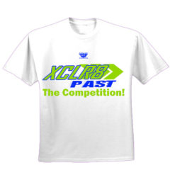 White and Green Battle Tek Athletics XCLR8 Performance Tee Shirt