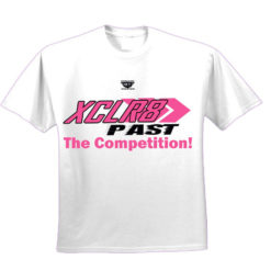 White and Pink Battle Tek Athletics XCLR8 Performance Tee Shirt