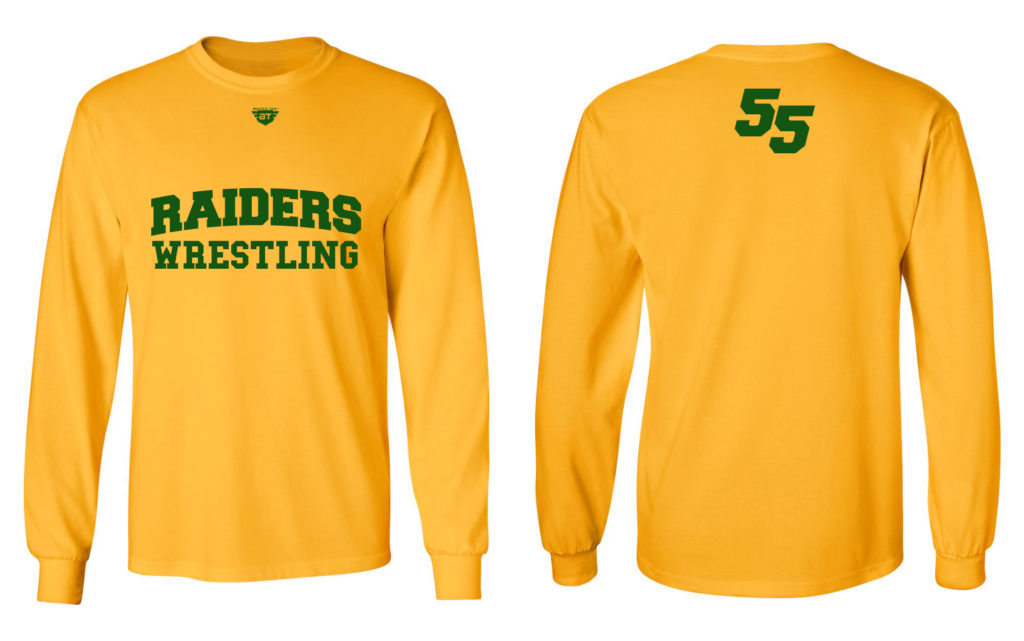 Raiders Printed Long Sleeve Shirt Battle Tek Athletics